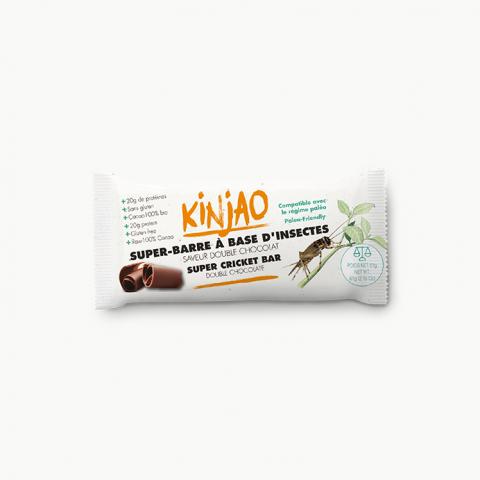 Barre protéinée aux grillons saveur double chocolat - KINJAO