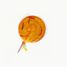 Mealworm Orange Lollipop