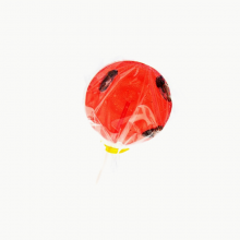 Strawberry & Cricket lollipop