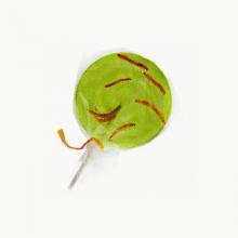 Apple & Worm Lollipop